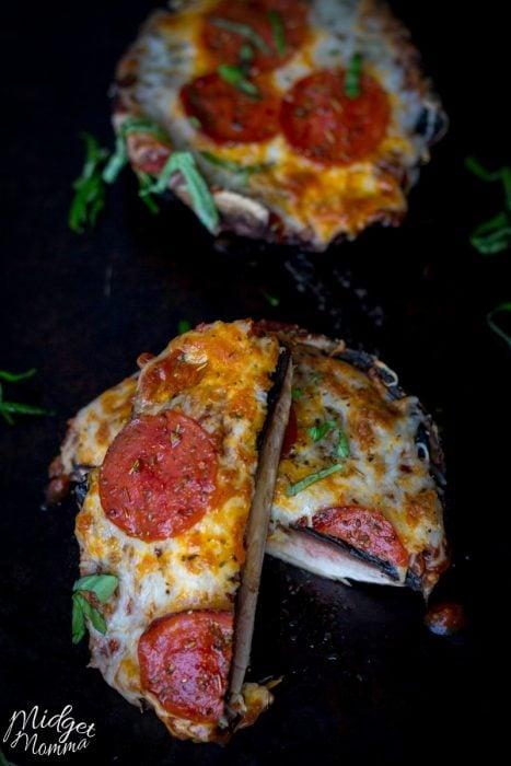 Portobella mushroom pizza