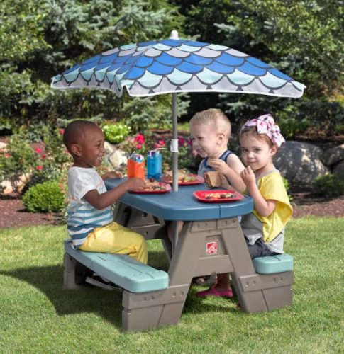 Step2 Picnic U0026 Play Table Set (Table U0026 Umbrella) $29 + Free Shipping