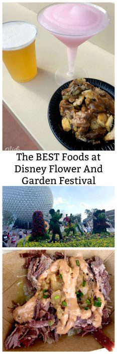 Disney Flower And Garden Festival Food You MUST try! These are the best foods that I found and you have to try at the Disney Flower And Garden Festival at Epcot.