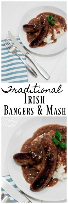 Want to go with a traditional Irish meal for St. Patrick's Day? Then this Irish Bangers and mash is what you want to make. Bangers and Mash is a sausage that is cooked in a stout beer served with mashed potatoes and a stout gravy.