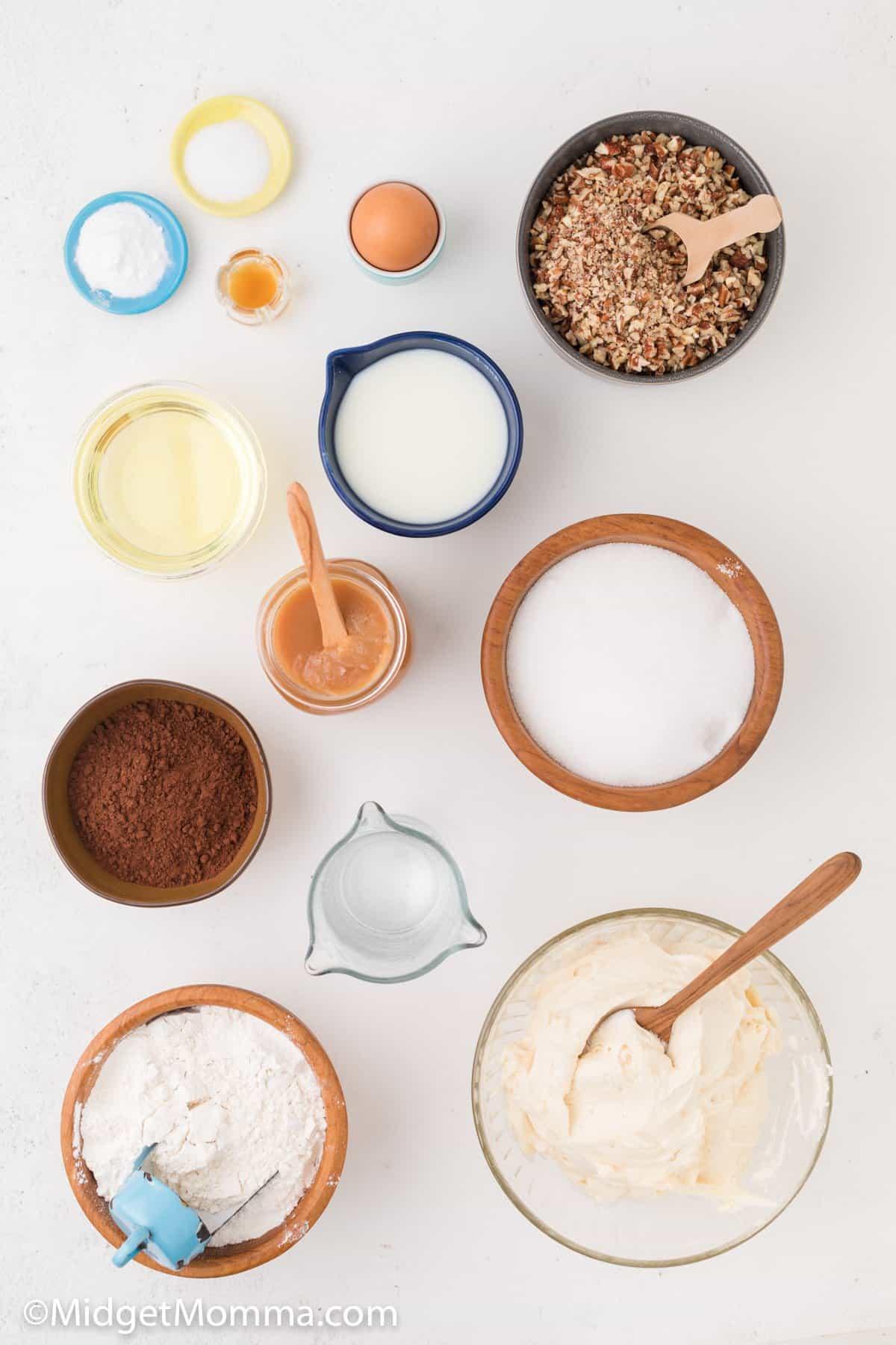 Chocolate Turtle Cake Recipe ingredients