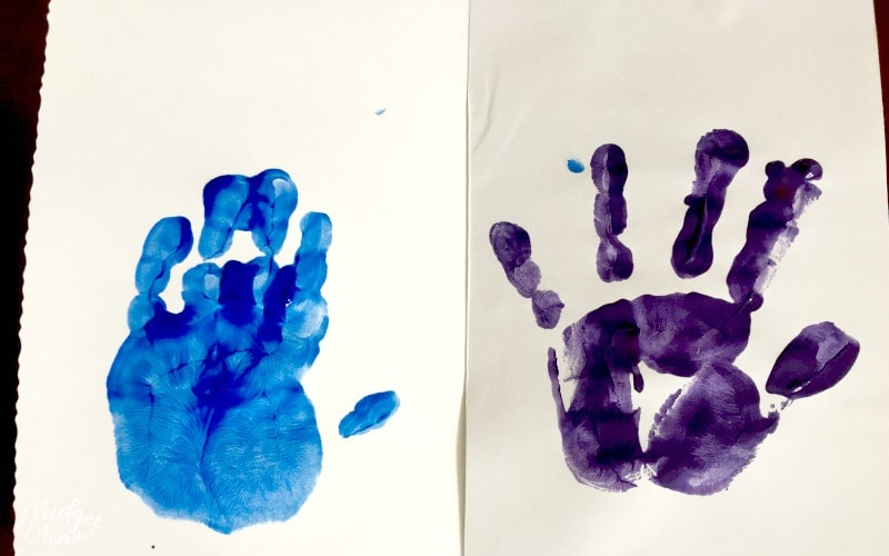 Handprint Mother's Day card