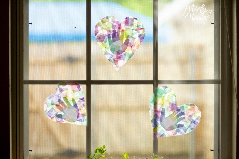 Handprint Suncatchers Summer Craft