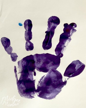 Handprint for Mother's Day card