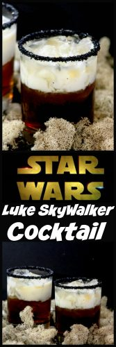 If you are looking for an amazing Star Wars drink to make while you sit down with the kiddos to watch Star Wars: The Last Jedi then you are going to love this Luke Skywalker cocktail!