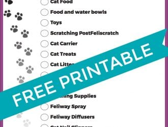 How to Prep Your Home When Getting a Kitten! + New Kitten Checklist Printable