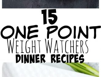 One point weight watchers dinner recipes #WeightWatchers #Dinner #WeightWatchersRecipes