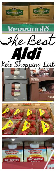 The Best Aldi Keto Shopping list. Don't get stuck trying to figure out what to buy from Aldi that is Keto Friendly. This list will help you along the way to find the best Keto friendly options along with the items that are the best keto items to buy at Aldi. #Keto #Grocerylist #KetoDiet