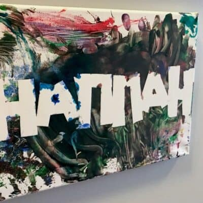 Toddler Name Canvas Painting Craft 1