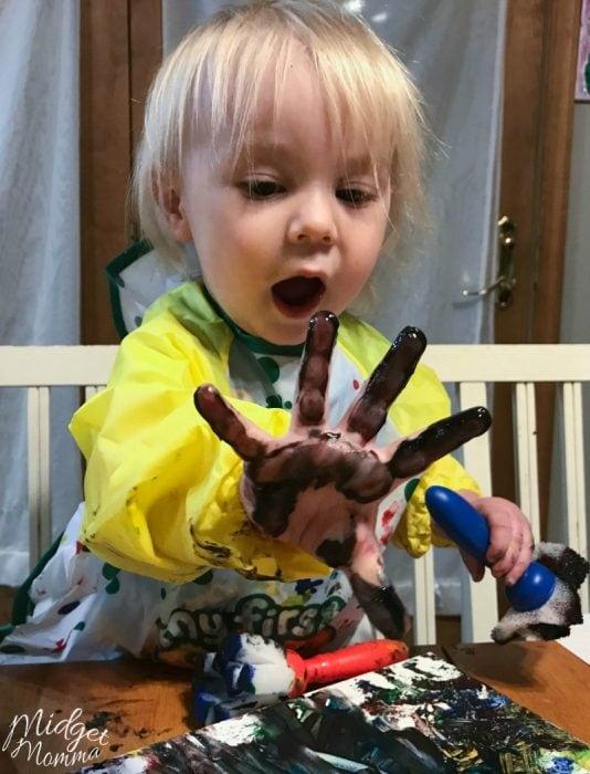 Toddler Name finger painting craft