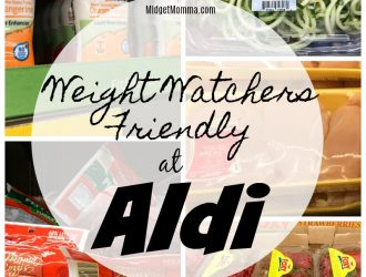 This list of Weight Watchers Friendly Items will help you with your Weight Watchers planning at Aldi. This list of 50+ items does not include the Zero point fruits and veggies as those are simple to find. This Weight Watchers shopping list will help you find snacks and more at Aldi that are weight watchers friendly.