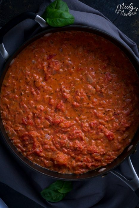 homemadeCreamy Tomato Sauce
