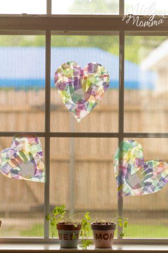 handprint suncatcher mother's day craft