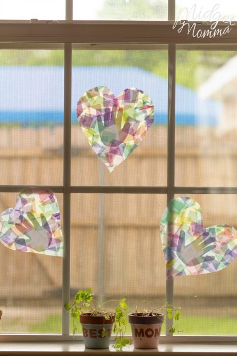 handprint suncatcher mother's day craft