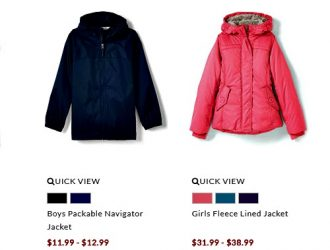 Land's End:  Kid's Outerwear on Sale, Score an extra 20% off!