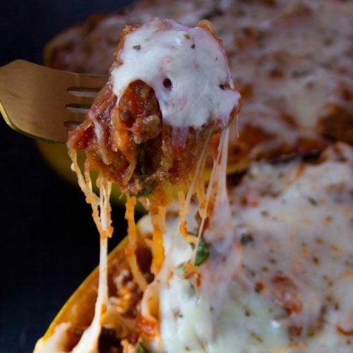 spaghetti squash ground beef lasagna