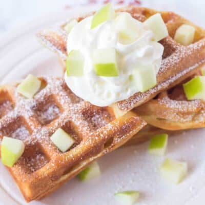 Apple waffles recipe
