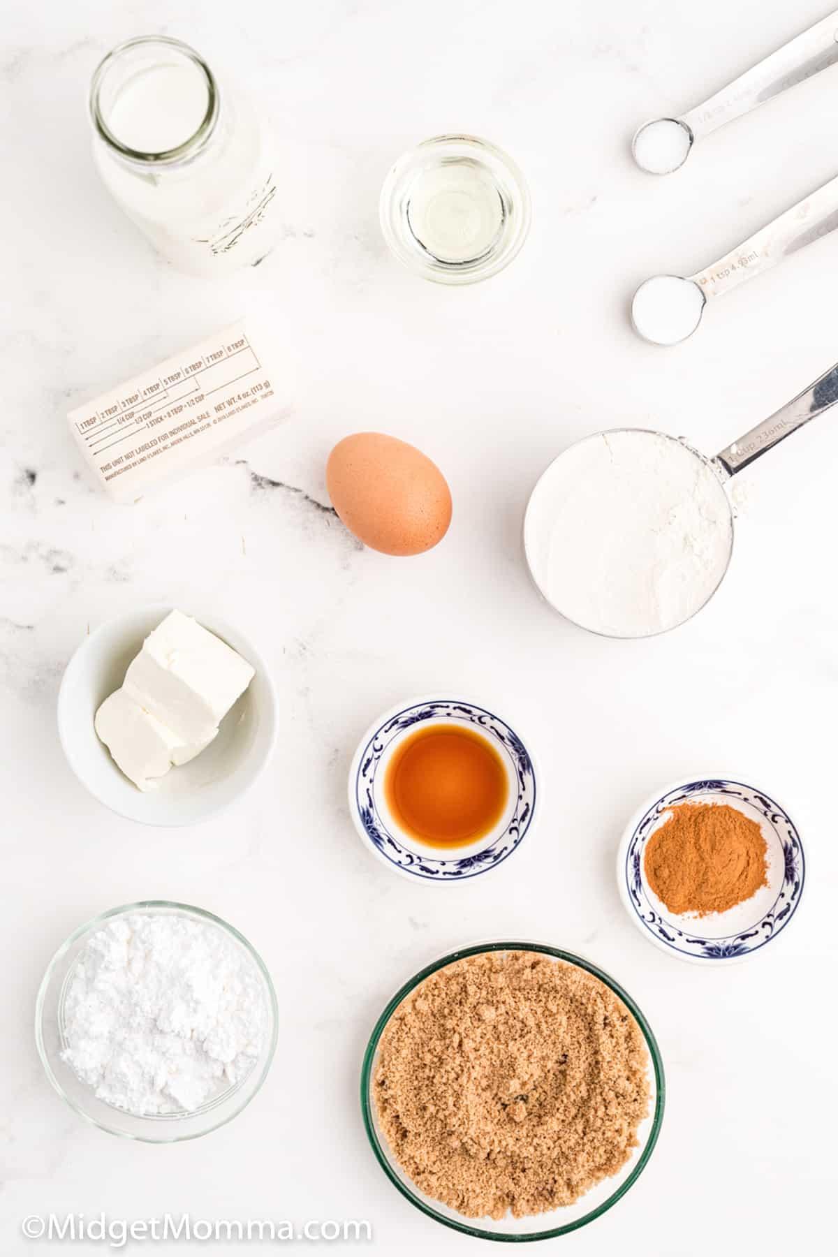 Cinnamon Roll Pancakes Ingredients