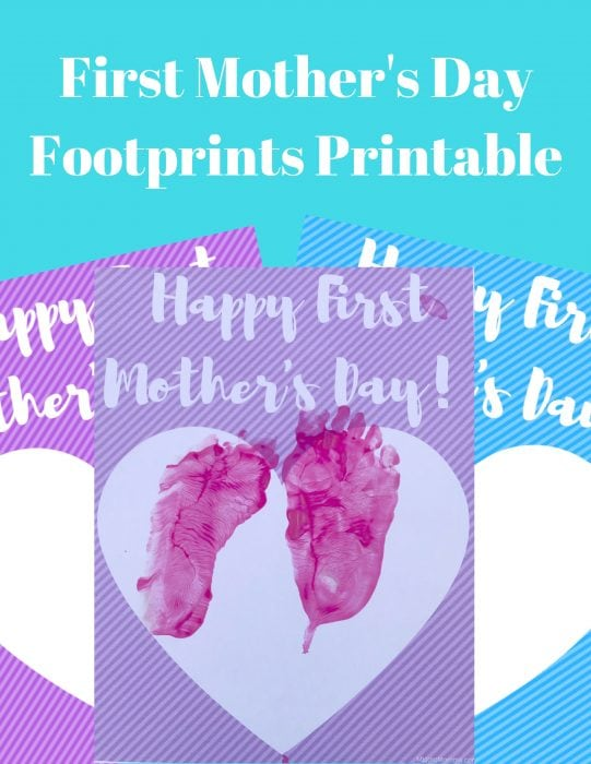 First Mother's Day Footprints Printable