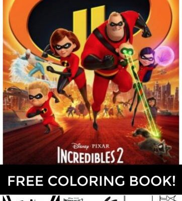 Incredibles 2 Colorings Pages