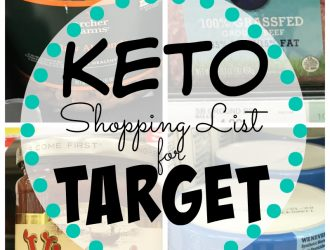 Target Keto Shopping List