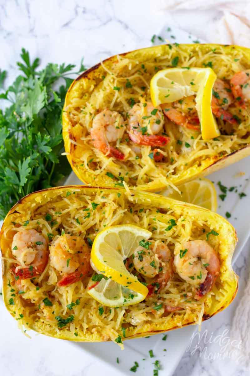 Shrimp Scampi Spaghetti Squash