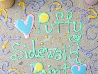 How to Make Puffy Sidewalk Paint