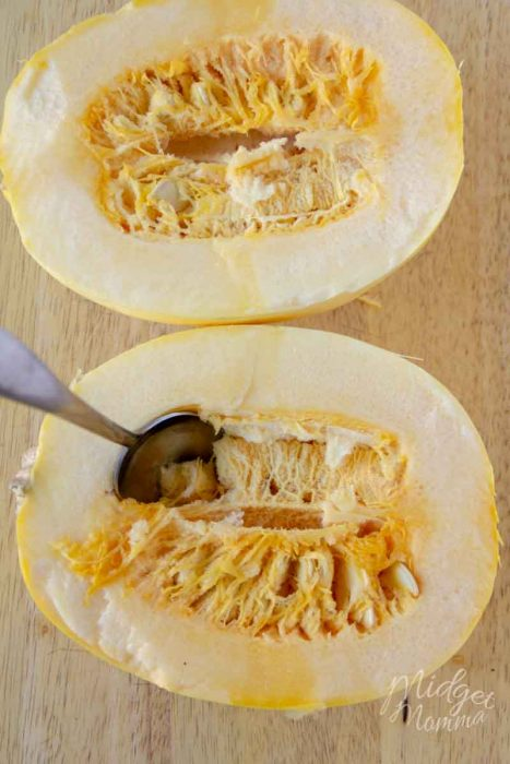 how to clean spaghetti squash