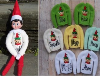 Because He will be back before you know it! Personalized Elf Sweater – 5 Colors!