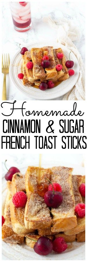 This easy homemade french toast stick recipe is the perfect breakfast. Once you make these Cinnamon and Sugar Homemade French Toast Sticks you will never want to eat frozen french toast sticks again! I have been told these easy french toast sticks taste just like cinnamon and sugar doughnuts! #MidgetMomma #breakfast #FrenchToast #Cinnamon #Sugar #FrenchToastSticks #EasyRecipe