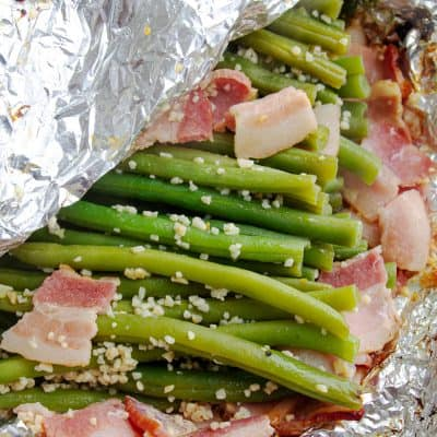 Grilled Green Beans with Bacon