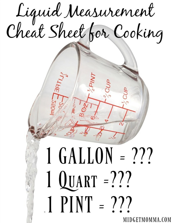 Liquid measurement for cooking