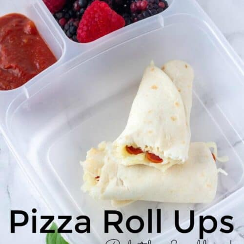 Pizza Roll up is a simple and fun pizza lunch box idea. This Easy Pizza Roll up Recipe makes kids lunches fun for back to school. #Pizza #lunchbox #EasyRecipe #PizzaRecipe #PizzaLunch
