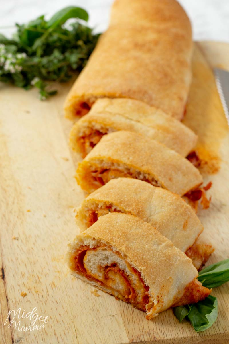 Pizza roll on a counter