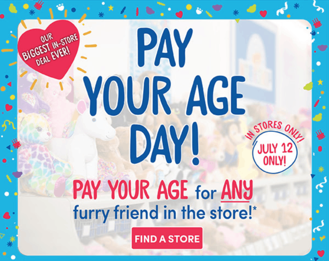 Pay your age at build-a-bear
