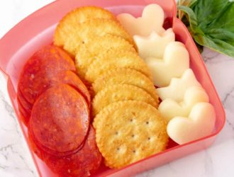 diy lunchable in lunch box