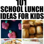 101 School Lunches Ideas For Kids (That they will actually eat!) Looking for lunch ideas for kids? You are in luck with this huge list of ids lunch ideas! All of these easy lunch ideas can be packed in the lunch box for kids school lunches! #backtoschool #kids #kidslunches #Schoollunches #Schoollunch #EasyLunch #EasyLunchForKids