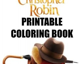 FREE Christopher Robin Movie Coloring Book Printable!