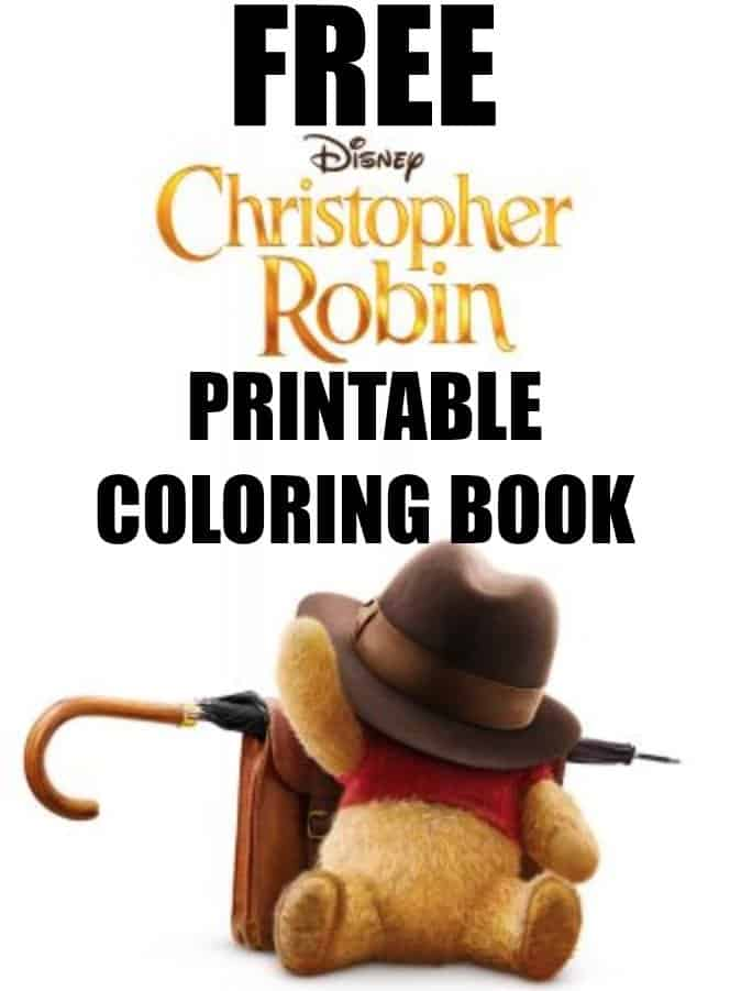 FREE Christopher Robin Movie Coloring