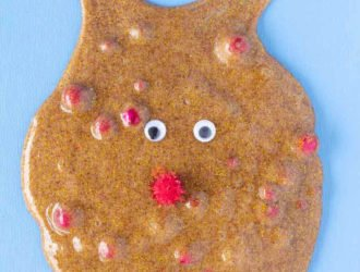 Rudolph The Red Nose Reindeer Slime (Cinnamon Scented Slime!)