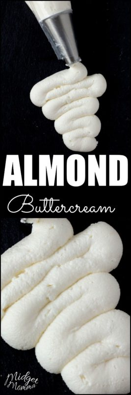 This Almond Frosting is an Almond buttercream frosting that tastes just like the frosting you get from a bakery. #Frosting #buttercream #icing #Almond #Cake #Cupcake