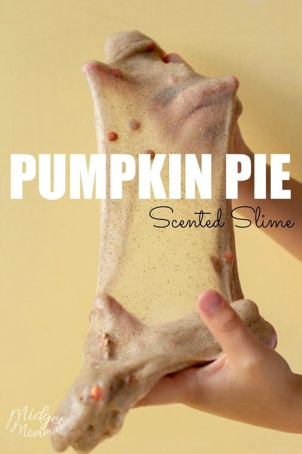 Everyone in your house is going to LOVE thisPumpkin Pie Slime! This Easy Slime Recipe is so much fun to make! #Slime #Pumpkin #Pumpkincraft #PumpkimSpice #SlimeRecipe #EasySlime #FallSlime #ScentedSlime