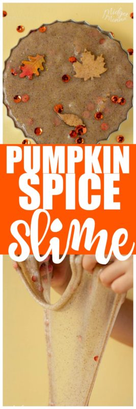 Everyone in your house is going to LOVE this Pumpkin Pie Slime! This Easy Slime Recipe is so much fun to make! #Slime #Pumpkin #Pumpkincraft #PumpkimSpice #SlimeRecipe #EasySlime #FallSlime #ScentedSlime