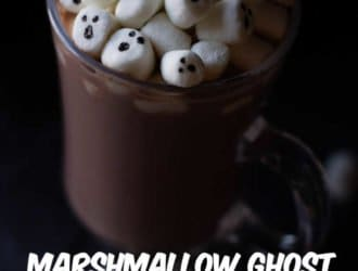 Marshmallow ghost Halloween Hot Chocolate 4