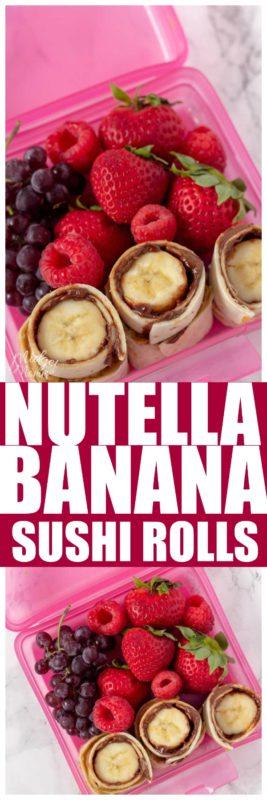 Nutella Banana Rollup pinterest