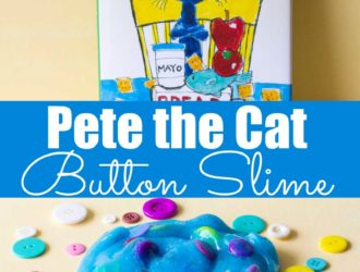 Looking for a fun Pete the cat activity? Then you are going to love this easy slime recipe. The kids will love making this Pete the cat button slime! Made with a 3 ingredient slime recipe, that is an easy slime recipe with button addins! #Slime #SlimeRecipe #ButtonSlime #PeteTheCat #Preschool #PreschoolActivity #PreschoolCraft