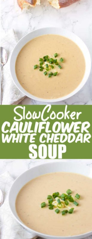 If you are looking for an amazing crockpot soup recipe, then you are going to love this crockpot Cauliflower Cheese soup. This crockpot Cauliflower and Cheese soup has roasted cauliflower and white cheddar cheese, cooked in the crockpot for one amazing soup.