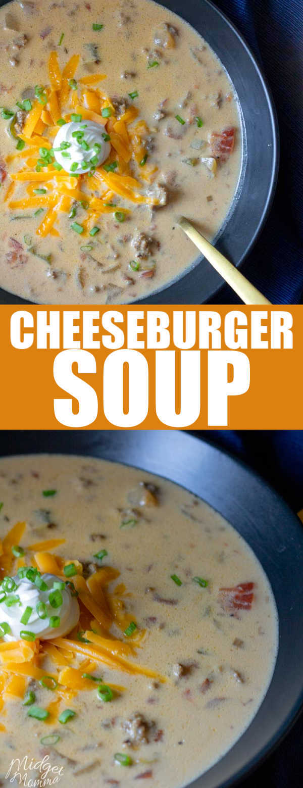 This cheeseburger soup recipe has all the flavors of amazing cheeseburger in a delicious soup the whole family will love! This cheeseburger Soup is a low carb and keto friendly soup that everyone will enjoy!