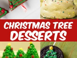 Christmas Tree desserts. These Christmas Tree desserts are perfect for any Christmas Party that you are having! #Christmas #ChristmasTree #Desserts #ChristmasDesserts