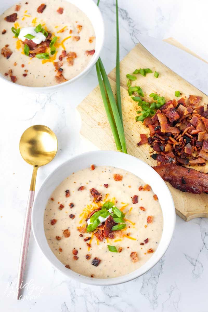 Bacon Cheddar Cauliflower Soup